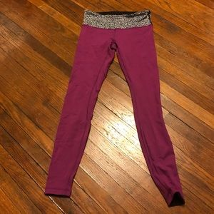 Lululemon reversible leggings, size 2